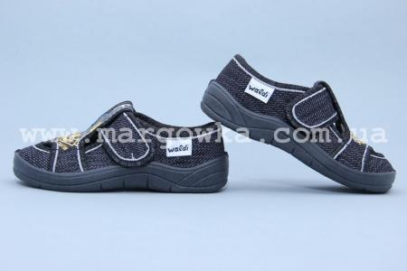 Тапочки Waldi 0011 для мальчика серые (A)