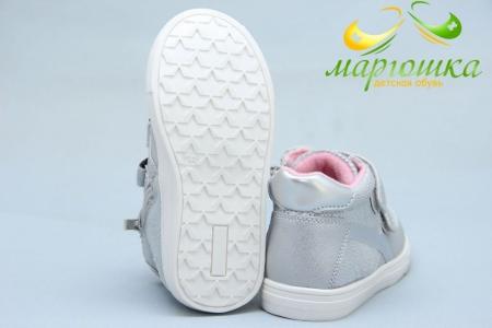 Ботинки С.Луч Y359-3 для девочки серебристые