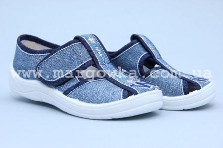 Тапочки Waldi 0017 для мальчика синие (A)