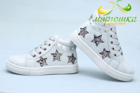 Ботинки С.Луч Y362-3 для девочки серебристые