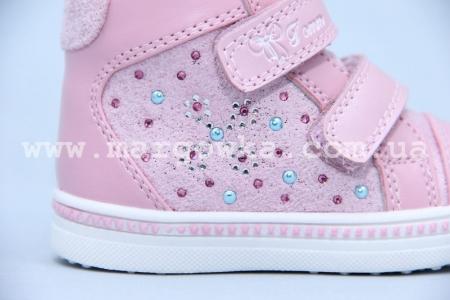 Ботинки Tom.M 3342C для девочки розовые (A)