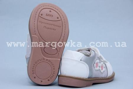 Туфли Шалунишка Ортопед 100-126 для девочки белые (A)