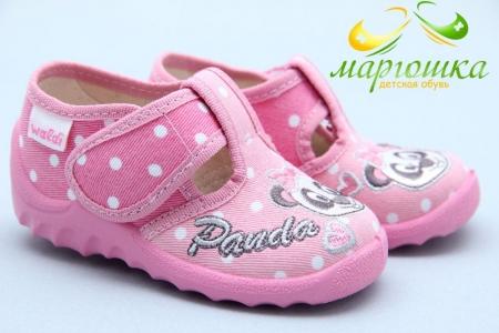 Тапочки Waldi 048 для девочки розовые
