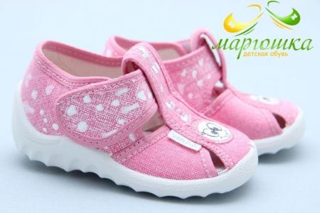 Тапочки Waldi 049 для девочки розовые