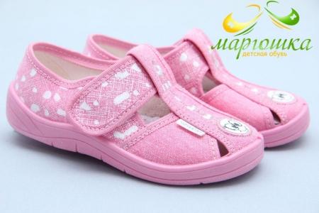 Тапочки Waldi 0075 для девочки розовые