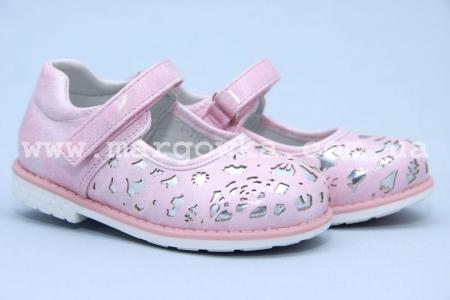 Туфли Tom.M 3052B для девочки розовые БОЛЬШЕМЕРЯТ! (G)