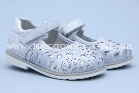 Туфли Tom.M 3052C для девочки серые БОЛЬШЕМЕРЯТ! (G)