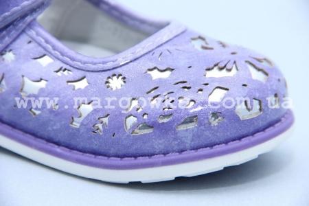 Туфли Tom.M 3052E для девочки фиолетовые БОЛЬШЕМЕРЯТ! (G)