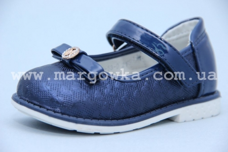 Туфли Tom.M 3053D для девочки синие БОЛЬШЕМЕРЯТ! (A)