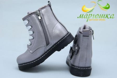 Ботинки BIKI 0549C для девочки серебристые