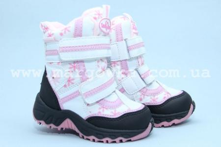 Термо-ботинки B&G RAY155-1064 для девочки белые