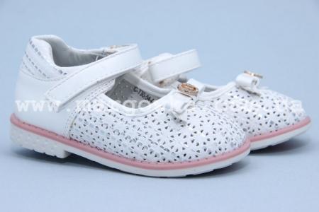 Туфли Tom.M 3054A для девочки белые БОЛЬШЕМЕРЯТ! (A)