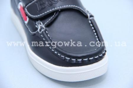 Мокасины B&G BG2716-808 для мальчика черные БОЛЬШЕМЕРЯТ! (A)