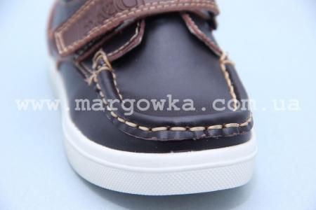 Мокасины B&G BG2716-807 для мальчика коричневые БОЛЬШЕМЕРЯТ!