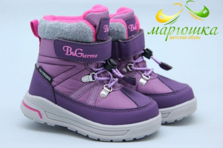 Термоботинки B&G TERMO R20-196 для девочки фиолетовые