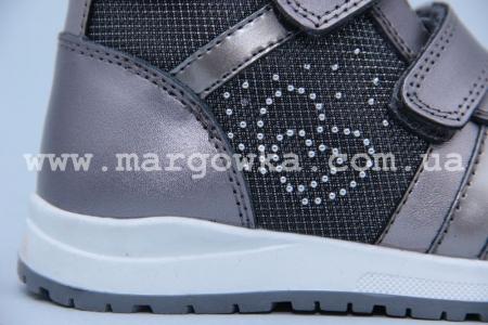 Ботинки BIKI 4414A для девочки серебро (G)