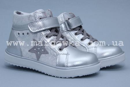 Ботинки BIKI 4280C для девочки серебро (A)