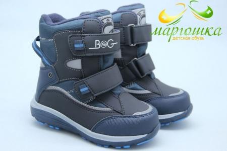 Термоботинки B&G TERMO HL209-813 для мальчика синие