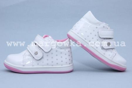 Ботинки С.Луч A7278-1 для девочки белые МАЛОМЕРЯТ! (A)