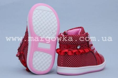 Ботинки Clibee P-159 для девочки красные (A)