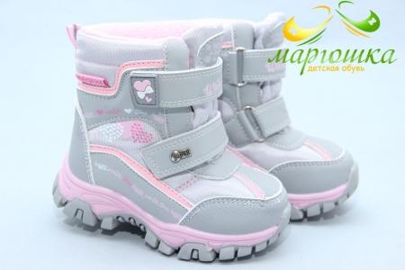 Ботинки Tom.M 3934K для девочки серые