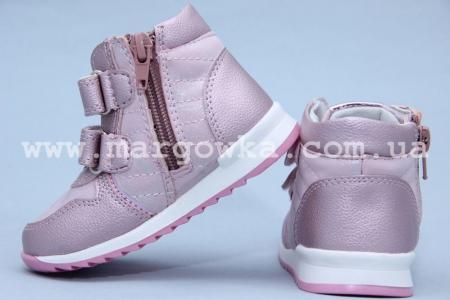 Ботинки Солнце X16-28 для девочки розовые (A)