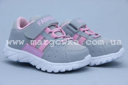 Кроссовки Tom.M 3346C для девочки серые (G)