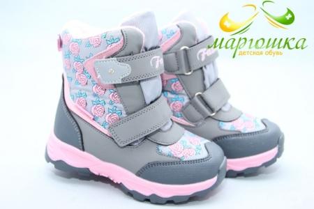 Ботинки Tom.M 5888A для девочки серые