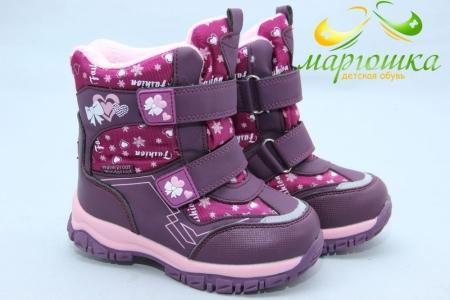 Ботинки Tom.M 3945B для девочки фиолетовые