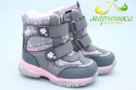 Ботинки Tom.M 3945D для девочки серые