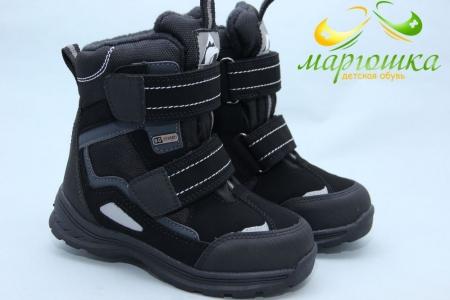 Термо-ботинки B&G TERMO ZTE17-101 для мальчика чёрные