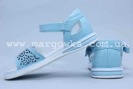 Босоножки Сказка S505-2 для девочки голубые (G)