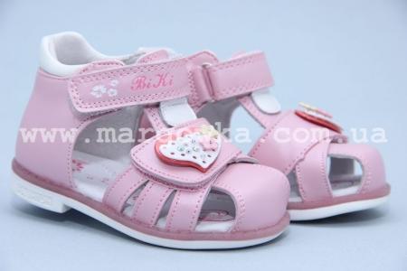 Босоножки BIKI 4217B для девочки розовые (A)