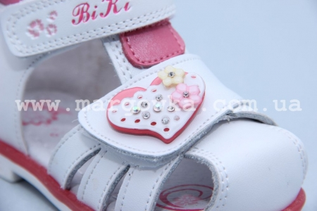 Босоножки BIKI 4217D для девочки белые (A)
