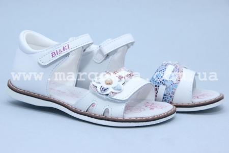 Босоножки BIKI 3356C для девочки белые (A)