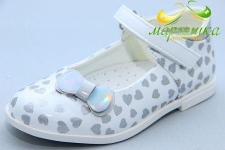 Туфли Сказка S530 для девочки белые