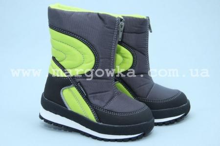 Термо-ботинки B&G R161-3195 для мальчика серые