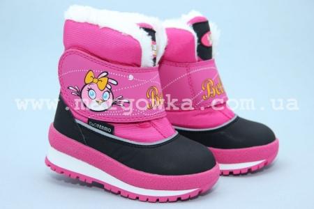 Термо-ботинки B&G R161-3191 для девочки розовые