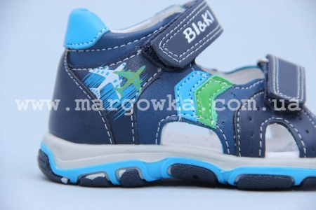 Босоножки BIKI 4084B для мальчика синие (A)