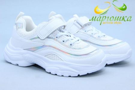 Кроссовки Tom.M 7288A для девочки белые