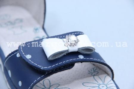 Босоножки B&G BG1827-65 для девочки синие (G)