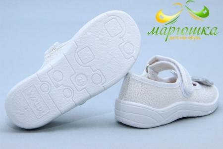 Тапочки Waldi 0111 для девочки белые