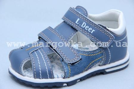 Босоножки Little Deer LD180-600 для мальчика синие (G)