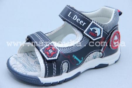 Босоножки Little Deer LD180-607 для мальчика синие (A)