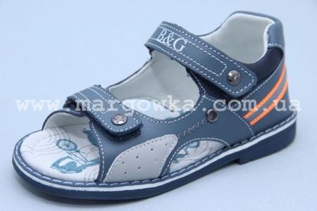 Босоножки B&G BG180-520 для мальчика синие (G)