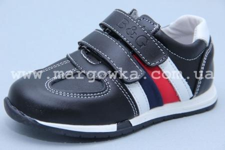 Кроссовки B&G BG180-421 для мальчика чёрные (A)