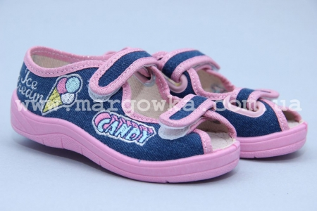 Тапочки Waldi 0029 для девочки синие (A)