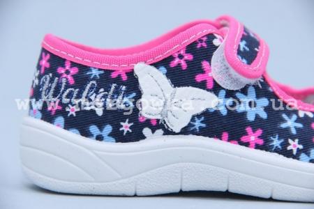 Тапочки Waldi 0025 для девочки синие (A)
