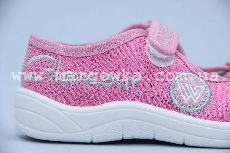 Тапочки Waldi 0026 для девочки розовые (A)