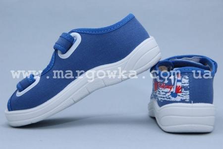 Тапочки Waldi 0027 для мальчика синие (A)